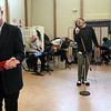ALLEGRA BOVERMAN/Staff photo. Gloucester Daily Times. Gloucester: The Good Ole Salty Jazz Band performs every Monday afternoon at 1 p.m. at the Rose Baker Senior Center in Gloucester. Bob and Faye Brophy of Essex were dancing to the music, and Henry Allen was singing.
