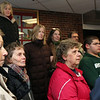 ALLEGRA BOVERMAN/Staff photo. Gloucester Daily Times. Gloucester: About 15 people who are concerned gathered at Addison Gilbert Hospital on Tuesday afternoon. They will attend the hearing on Thursday evening to be held by the state department of public health. Front row, from left are: Linda Maki, Judi Gross, Lee Swekla, and Alex Kadim. Behind them are: Peggy O'Malley, Kasha Gula, Marcia Hart and Ben Steele.