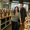 ALLEGRA BOVERMAN/Staff photo. Gloucester Daily Times. Gloucester: Lauren Linquata Negron and her husband Eric Negron are about to open Cape Ann Olive Oil Co. on Main Street.