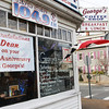 To celebrate the tenth year aniversary of Dean Salah taking over ownership of George's on Washington, his employee's decorated the coffee shop on Saturday. Jesse Poole/Gloucester Daily Times Jan. 28, 2012