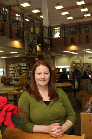 Allegra Boverman/Gloucester Daily Times. Frayja Sanger is the new assistant director at the Sawyer Free Library. She started last Monday.