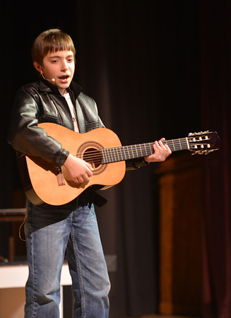 Jim Vaiknoras/Gloucester Daily Time: Troy Edmonds performs as Doodie in the Rockport Middle School Production of Grease. Performances are Thursday, Friday, and Saturdat at 7pm and Sunday at 2pm at the John E. Lane Performing Art Center at Rockport High.
