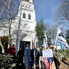 Jim Vaiknoras/Gloucester Daily Time: Members and friends step off from the Unitarian Universalist Church in the 25th annual Martin Luther King jr march at the in Rockport Monday morning.