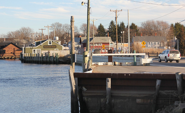 Allegra Boverman/Gloucester Daily Times. The area in Essex on the river where a boardwalk is being proposed.