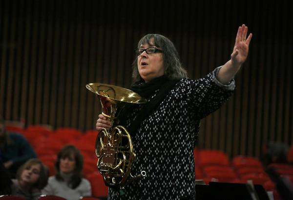 Symphony Musicians Talk to West Parish Students