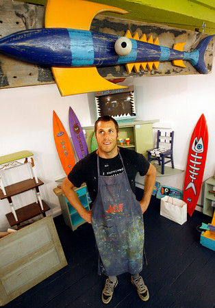 Rockport: Jon Conant of Gloucester is setting aside a portion of his studio to open an art gallery, the Hive, in Rockport. Photo by Kate Glass/Gloucester Daily Times Tuesday, July 7, 2009