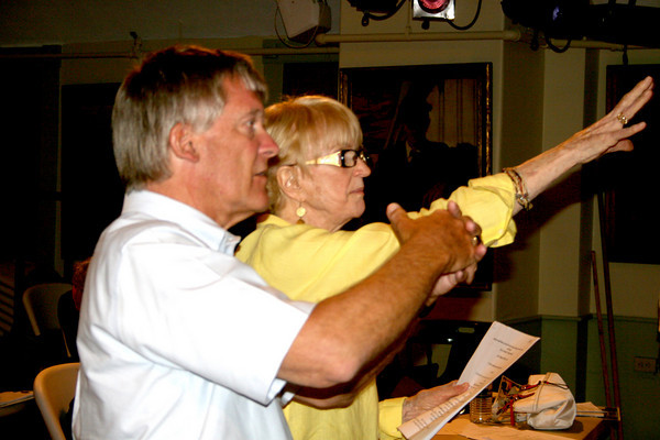 "Gloucester: Terry Stands and Mary Curtis directing a theater play ""Joseph and the Amazing Technicolor Dreamcoat"", which will be presented for public on Auguat 4th at the Annisquam Village Hall."