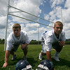 Gloucester: Gloucester residents Pat George and Derek Pratt, who recently graduated from Pingree, will be playing in the Agganis Football All-Star Classic in Lynn tonight. Photo by Kate Glass/Gloucester Daily Times Tuesday, July 14, 2009