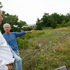 Rockport: Patrick Fortin, left, and Ward Talbot, right, discuss an area of Rockport town land on Long Beach that they would like open for parking. Photo by Kate Glass/Gloucester Daily Times Thursday, July 23, 2009