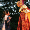 Marcie McKenzie as Bianca pleads with her sister Kate, played by Heidi Pulkonen, during a scene in The Taming of the Shrew. The Shakespearean play, which opens July 31st, will be performed by Theatre in the Pines at Windhover Performing Arts Center. Photo by Maria Uminski/ Gloucester Daily Times