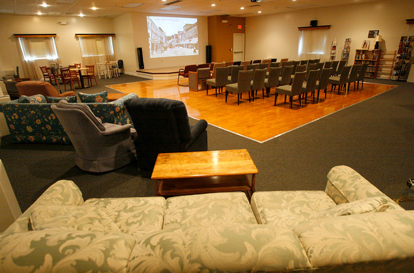 Gloucester: Cape Ann Community Cinema has relocated to 21 Main Street in Gloucester. The new theater features furniture from all over Cape Ann and also offers some local food. Photo by Kate Glass/Gloucester Daily Times Tuesday, July 7, 2009