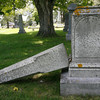 Gloucester: Several graves at Oak Grove Cemetery have been tipped over recently as part of a spree of vandalism at the property. Photo by Kate Glass/Gloucester Daily Times Monday, July 13, 2009