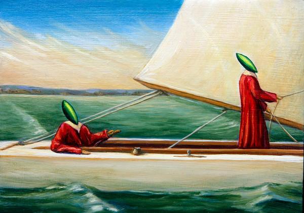 "Sam Holdsworth's painting ""Greenheads"""
