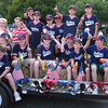 Rockport: The Indians baseball team poses for a picture before Rockports annual Forth of July parade Saturday evening. Gail McCarthy/Gloucester Daily Times
