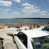 Gloucester: Many seasonal residents of Gloucester have expressed concern over their parking stickers as they cost more, but do not let them park at resident beaches, such as Niles Beach. Photo by Kate Glass/Gloucester Daily Times Wednesday, July 15, 2009