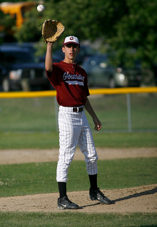 Gloucester: Gloucester's Lenny Taormina pitches against Swampscott during the Junior League All-Stars at Nate Ross Field last night. Photo by Kate Glass/Gloucester Daily Times Monday, July 13, 2009