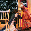 Marcie McKenzie tries to escape Hedi Pulkonen's grip as the two play polar-opposite sisters, Bianca and Kate, in the play, The Taming of the Shrew. The Shakespearean play will be performed by Theatre in the Pines at the Windhover Performing Arts Center which opens on July 31st. Photo by Maria Uminski/ Gloucester Daily Times