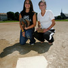 Gloucester: Gloucester softball players Olivia Frontiero, left, and Nicole Whipple, right, will play in the 12th annual Agganis softball game on Sunday. Photo by Kate Glass/Gloucester Daily Times Thursday, July 9, 2009
