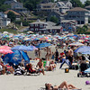 Gloucester: Beachgoers flocked to Good Harbor Beach over the holiday weekend trying to escape the heat. The parking lot was restricted to residents only from roughly 10-2 Saturday through Monday due to the large crowd. Photo by Kate Glass/Gloucester Daily Times