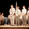 Rockport: State Rep. Ann Margaret Ferrante presents citations to Kyle Favaloro, Alexander Aparo, Daniel Carter, Craig Cardani, and Samuel Smith during an Eagle Scout Court of Honor at Rockport High School. The five Rockport scouts achieved the rank of Eagle Scout this year. Photo by Kate Glass/Gloucester Daily Times