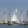 Gloucester: Kids begin to line up their 420 sailboats in the Annisquam River duirng the 109th Annual Squam Day Invitational out of the Annisquam Yacht Club Friday afternoon.  Mary Muckenhoupt/Gloucester Daily Times