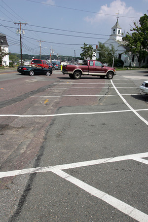 Essex: The designated public parking spaces on Main Street in Essex will be eliminated under the state highway construction project.  Mary Muckenhoupt/Gloucester Daily Times