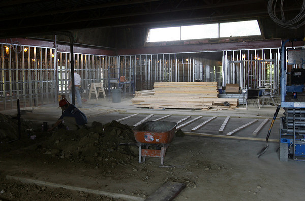 Gloucester: The art room will be centrally located in the Charter School, which is being built in the former location of the Cape Ann Medical Center. Photo by Kate Glass/Gloucester Daily Times