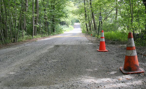 Manchester: Manchester Selectmen have expressed concern over who will pay for maintenance to water lines beneath private roads, such as Boardman Ave, which recently had a water main break. Photo by Kate Glass/Gloucester Daily Times