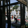 Rockport: Kids filter into Sandy Bay Yacht Club after the Linda Wieditz Memorial Opti Regatta Friday afternoon.  The all day race held in Rockport Harbor was for young sailors ages 8 to 13. Mary Muckenhoupt/Gloucester Daily Times