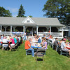 Manchester: Hundreds attended the Annual Red White and Blue Breakfast in Manchester Tuck's Point . Many enjoyed their breakfast inside,while others dine outside in the warm sun, as the Gid's Giddy Gang jazz music filled the air Saturday morning. The<br /> proceeds benefit Rotary Club scholarships and community service projects. Desi Smith/Gloucester Daily Times. July 2,2011.