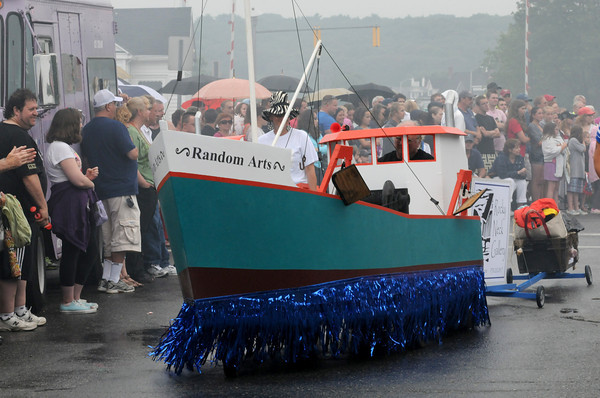 Gloucester The Rocky Neck Art Gallary entered a couple draggers.  Desi Smith/Gloucester Daily Times. July3,2011