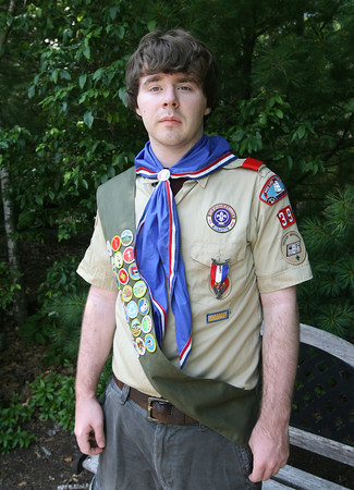 Sean O'Donnell of Essex Boy Scout Troop 39 recently became an Eagle Scout. O'Donnell's project involved seeding the clam beds in the Essex River over a period of several months. Photo by Kate Glass/Gloucester Daily Times