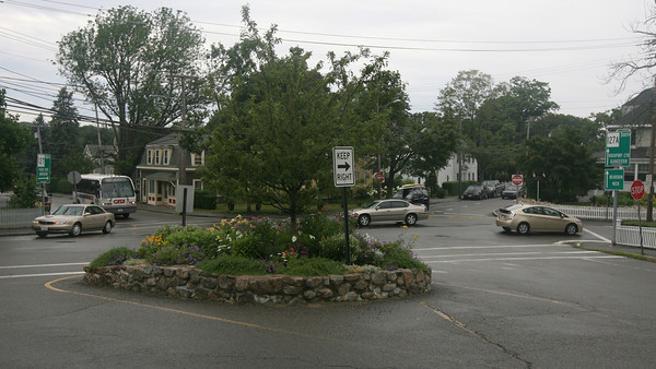 Rockport: The traffic and parking committee in Rockport is considering putting a rotary at Five Corners at the recommendation of a state engineering report. Photo by Kate Glass/Gloucester Daily Times