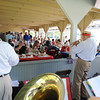 Manchester: Members of the Gid's Giddy Gang play for a full house at the Annual Red White and Blue Breakfast in Manchester Tuck's Point Saturday morning.Proceeds benefit Rotary Club scholarships and community service projects. Desi Smith/Gloucester Daily Times. July 2,2011.