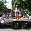 The Singing Beach Bums pass by the Manchester Public Library during the Manchester 4th of July Parade. The float won the youth category. Photo by Kate Glass/Gloucester Daily Times