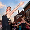 Gloucester: Sarah Urbanski 15, dances a student choreography piece called Hide in Seek, with other dancers from Cape Ann Center for Dance on Emerson Ave run by Kim Blisard, Saterday night at the Annual Block Party on Main St. Desi Smith/Gloucester Daily Times. July16,2011