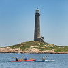 Rockport: Kayaker's make their way to Thacher Island after taking off from Granite Pier Saturday afternoon, as part of the 150th celebration of the twin lighthouses.The event will help raise funds for the Thacher Island Association. Desi Smith/Gloucester Daily Times July 16, 2011.
