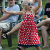 Anna Rose, 6, dances to the music of the Zumba Fitness group during the Rockport Firemen's Association's Fourth of July Parade last night. Photo by Kate Glass/Gloucester Daily Times