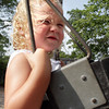 David Le/Gloucester Daily Times. Samantha Walker, 2 of Magnolia, enjoys a hot July afternoon by swinging herself on the swingset at Masconomo Park in Manchester on Tuesday afternoon. 7/12/11.