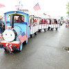Gloucester Uncle Tony with his train. Desi Smith/Gloucester Daily Times. July3,2011