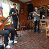 Rockport: Italo Cunha, 18, of Brazil, Felix Peikli, 20, of Norway, and Alek Razdan, 17, of Rockport perform at the Seaward Inn on Sunday as part of their Sunday Morning Live series, which combines music and brunch and runs through the summer. Italo and Felix are both students at Berklee College of Music and Alek recently graduated from Rockport High School. Photo by Kate Glass/Gloucester Daily Times