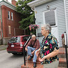 ALLEGRA BOVERMAN/Staff photo. Gloucester Daily Times. Gloucester: Ida and John Christopher, of 122 Maplewood Avenue, have lived next door to the Maplewood School for decades and their children attended school there. They support the new plans for the site.