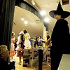 "Gloucester: Gina Milne as the Wicked Witch of the West talks with Val Gilman as she waits for her que in the  Annisquam Village Players production of ""THe Wizard of Oz. Jim Vaiknoras/staff photo"