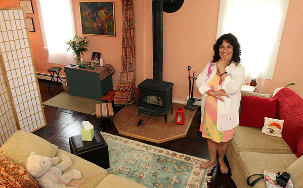 ALLEGRA BOVERMAN/Staff photo. Gloucester Daily Times. Rockport: <br /> Anita Pandolfe Ruchman of Rockport, a nurse by profession, opened up a special practice after she lost a teen-age child. She brings together her backgrounds in nursing,  massage therapy, midwifery, childbirth education, and now pyscotherapy.  She got her master's degree as a pyschiatric nurse practitioner at Mass. General.  She is putting into practice the traditional nurse healer role of someone who cares for individuals and families throughout their life span. Her new business is A Tender Place.