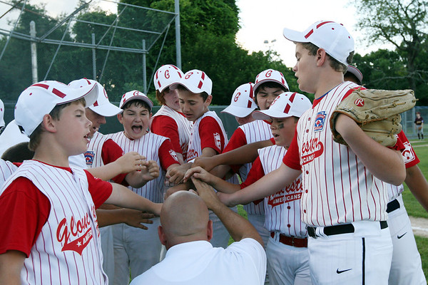ALLEGRA BOVERMAN/Staff photo. Gloucester Daily Times. Ipswich: The Gloucester Americans team won their game against Danvers National 6-4 in the District 15 Williamsport Pool Play on Monday afternoon.