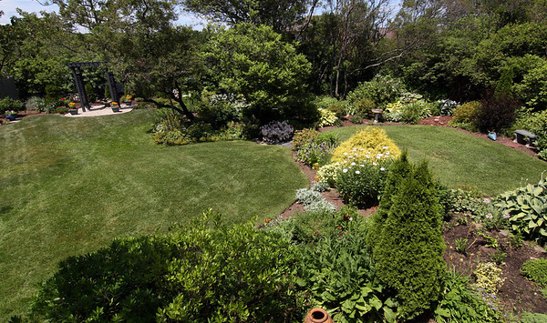 ALLEGRA BOVERMAN/Staff photo. Gloucester Daily Times.Rockport: The gardens of Nan Blue of 14 Eden Road on Thursday. Her gardens are on the Coastal Gardens tour on Friday and Satuday in Rockport.
