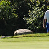 Gloucester: Garth Cumberlidge lines up a putt on the 11th hole at the Bass Rocks Club Championship Sunday morning. Jim vaiknoras/staff photo