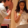 "Gloucester:Ben St Cyr and Rebecca Pollock  rehearse ""Us and Them"" at  the O'Maley Middle School Performing Arts Dept. Drama Camp  which will be performed Friday free of charge at the school. Jim Vaiknoras/staff photo"