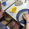 ALLEGRA BOVERMAN/Staff photo. Gloucester Daily Times. Gloucester: Sophia Zeller, a 5th grader, and a summer resident of Gloucester visiting from Switzerland, creates a leaf-shaped clay piece on Friday during Art Haven's Clay Week on Friday. Next week Art Haven will team up with Maritime Gloucester for a week of projects at both locations. Call 978-283-3888 for more information.
