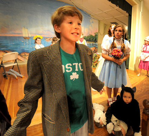 """Gloucester: Jared Gilman as the Coroner Munchkin Land in the  Annisquam Village Players production of """"THe Wizard of Oz. Jim Vaiknoras/staff photo"""